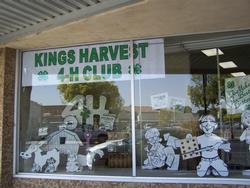 Kings Harvest 4-H Display Window at Workingmans