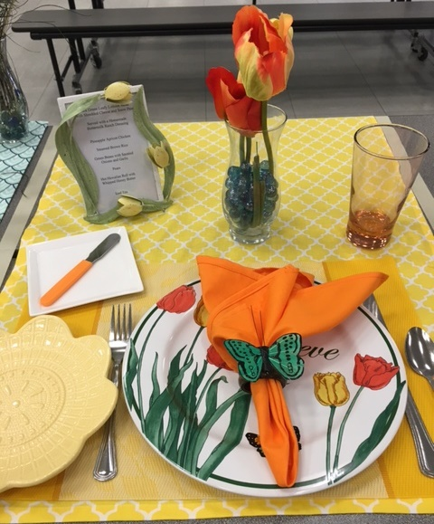 Butterfly & Tulip Place Setting-Intermediate Division