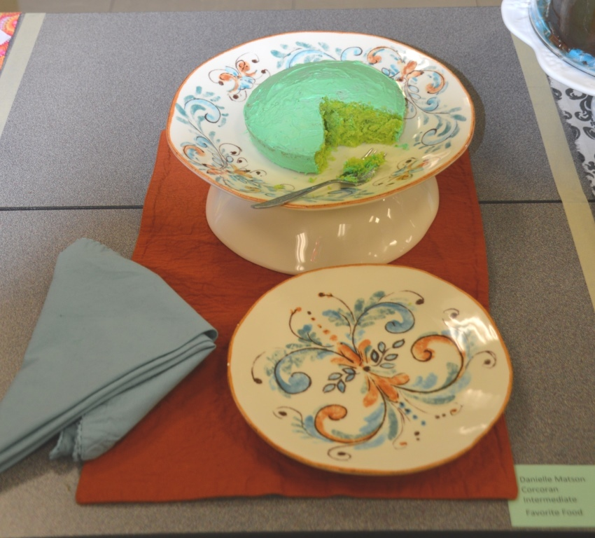 Cake with Green Frosting-Intermediate Division