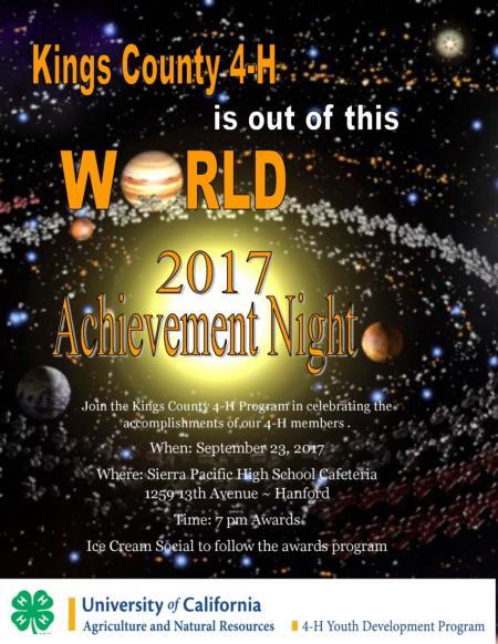 Achievement Night Flyer